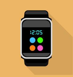 Quartz watch icon flat style vector