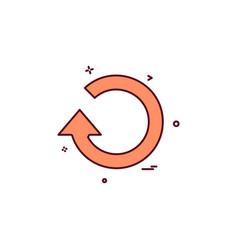 refresh reload icon design vector image