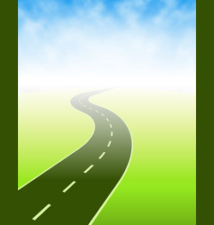 road going somewhere vector image