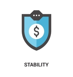 stability icon concept vector image