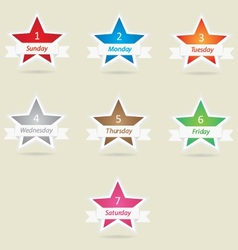 Star week days vector image
