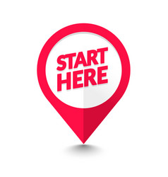 Start here map pointer icon gps location symbol vector