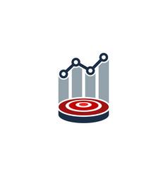 Stats target logo icon design vector