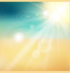 Summer sun and beach shiny sunlight from sky vector