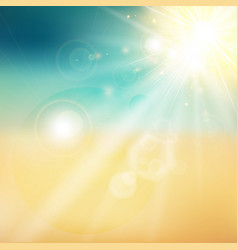 summer sun and beach shiny sunlight from the sky vector image