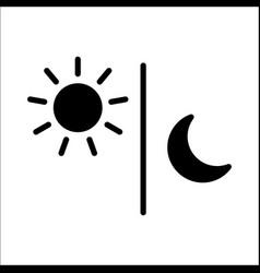 sun moon icon black isolated vector image