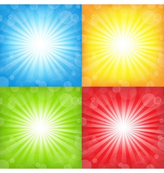 Sunburst And Bokeh Set vector image