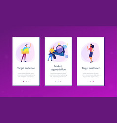 Target group app interface template vector