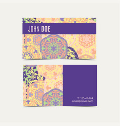 Template business cards with oriental islamic vector