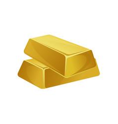 two gold bars ingots bullions banking business vector image