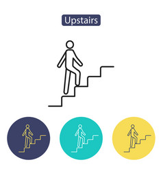 Upstairs icon sign vector