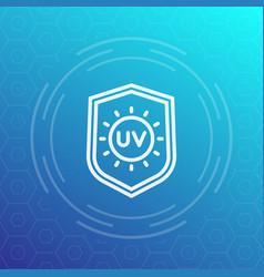 Uv protection line icon symbol vector