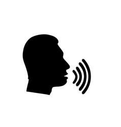Voice talking icon vector