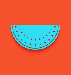 Watermelon sign whitish icon on brick vector
