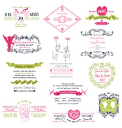 Wedding set design elements vector