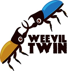 Weevil Twin vector