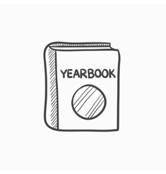 Yearbook sketch icon vector