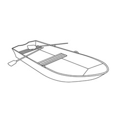 boat flat icon and sign vector image vector image