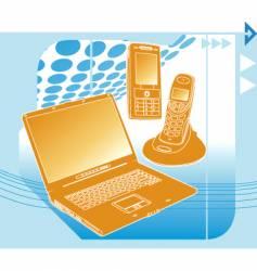 communication technology vector image