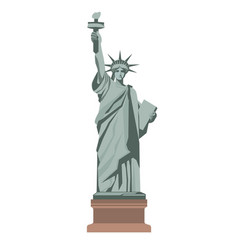 famous statue of liberty with torch isolated vector image vector image