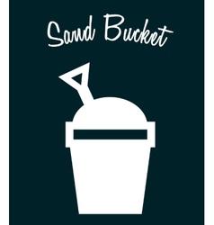 sand bucket vector image