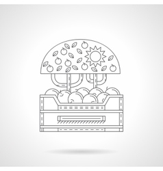 Apples harvest icon flat line style vector image