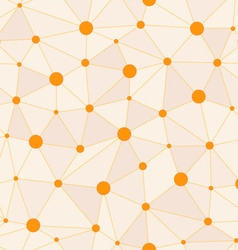 Atomic Background with Interconnected Yellow Dots vector image
