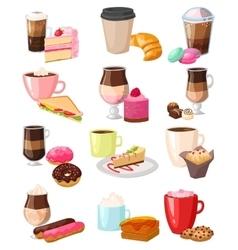 Coffee snack set vector