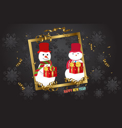 luxury elegant merry christmas - happy new year vector image vector image