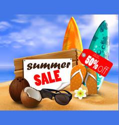 Summer sale banner online shopping vector