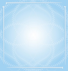 Winter Holiday Pattern with Icicle Frame vector image