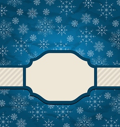 Christmas elegant card with snowflakes vector image