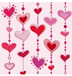 heart tiles vector image vector image