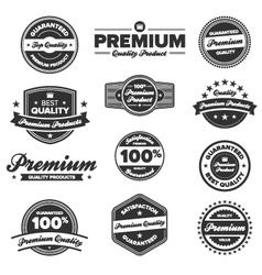 premium quality badges vector image