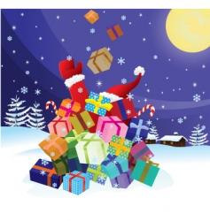santa claus crash by christmas vector image