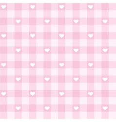 Seamless pink valentines background full of love vector image