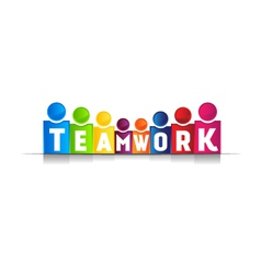 Teamwork concept word logo vector image vector image