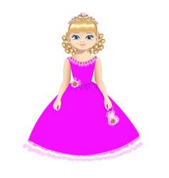 beautiful princess with diadem vector image