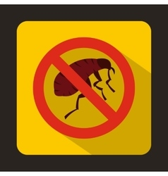 Etching insect icon flat style vector image vector image