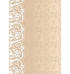 flower background with lace seamless template vector image vector image