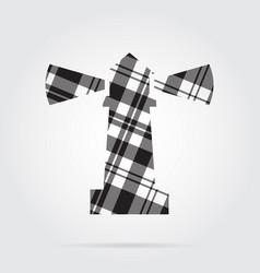 Grayscale tartan isolated icon - lighthouse vector