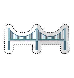 new york bridge isolated icon vector image vector image
