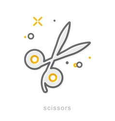 Thin line icons Scissors vector image vector image