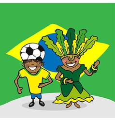 Welcome to Brazil people vector image vector image