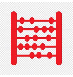 Abacus icon design vector