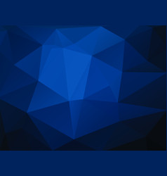 abstract dark blue background with triangles vector image
