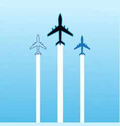 Aircraft icons vector