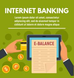 balance internet banking concept banner flat vector image