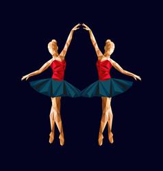 ballerina prima polygonal triangle paper vector image
