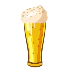 Beer glass icon cartoon style vector image